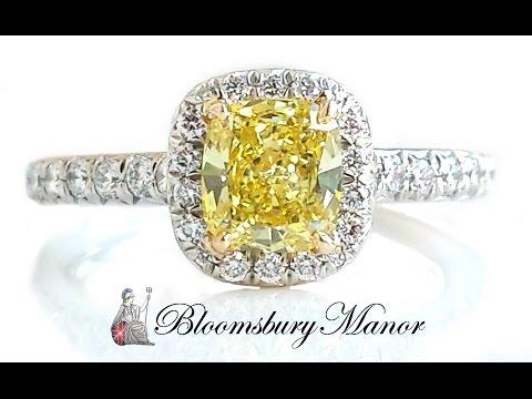 Tiffany & Co. 'Soleste' Yellow Diamond Engagement Ring in 18k Gold & Platinum