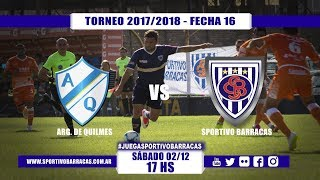 Argentino de Quilmes vs Sportivo Barracas full match