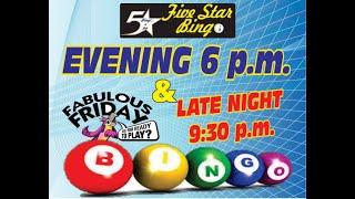 Five Star V-Bingo Live - JUNE 4 EVE EVENT