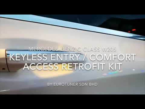 Mercedes Benz Keyless Entry Comfort Access Retrofit Kit For W205 C
