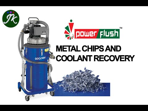 How to clean the metal chips and coolant in a tool room