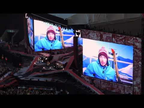 One Direction - Where We Are Tour Intro - Wembley Stadium 07/06/2014