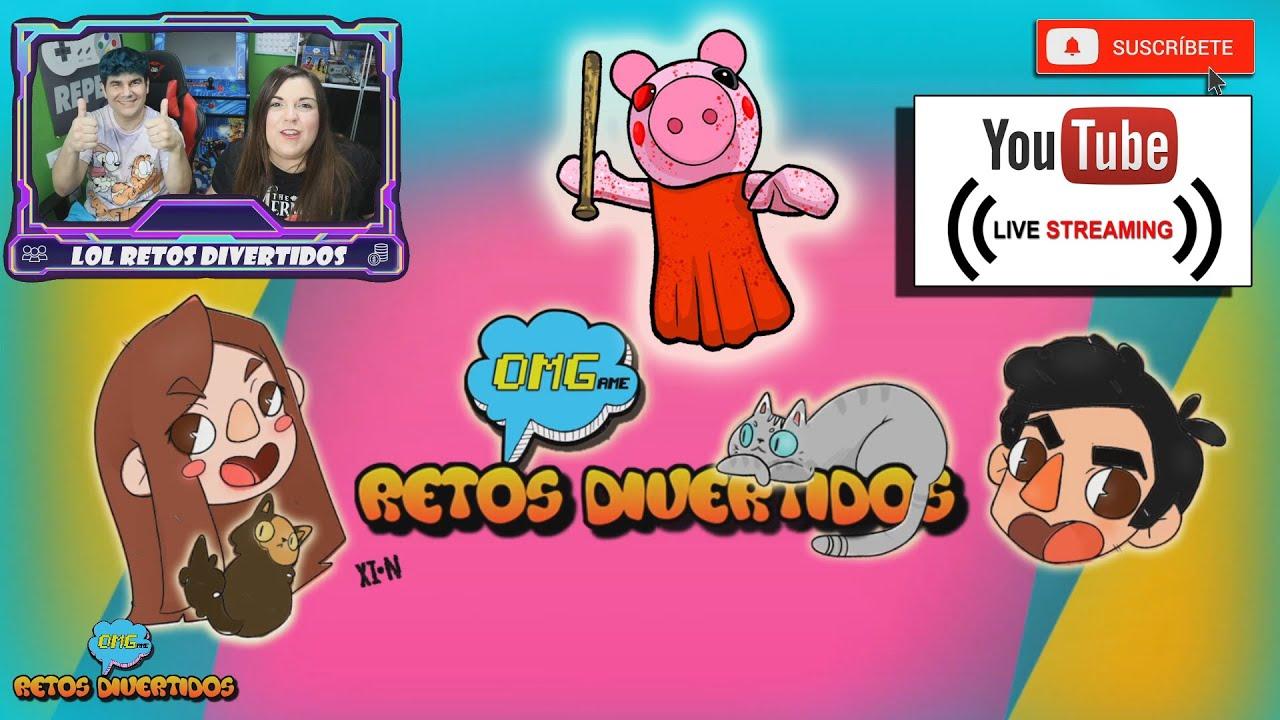 🔴PRIMERA emisión en directo 🐷 JUGANDO EN DIRECTO A PIGGY de Roblox 🔨 OMGame Retos Divertidos