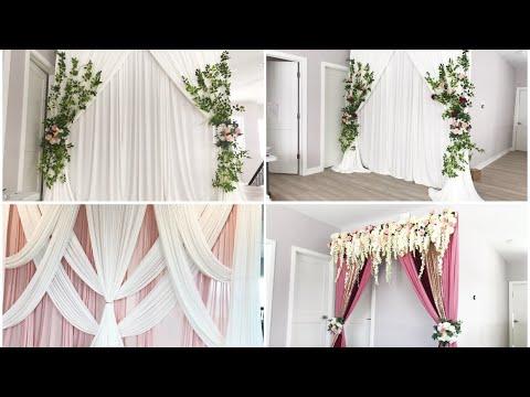 diy wedding backdrop diy draping diy quick backdrop designs