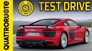 Audi R8 2016 Test Drive(La Audi R8 si presenta con numeri da capogiro: 610 cavalli, prima di tutto. L'abbiamo portata in pista e strapazzata come si deve.. Come se la sarà cavata?, 2016-02-21T16:00:02.000Z)