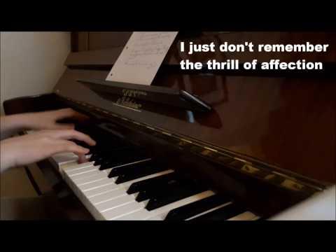 Say Something Loving - The xx (piano cover + lyrics)