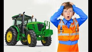 Сеня ездит на тракторе и помогает друзьям Сборник детских историй