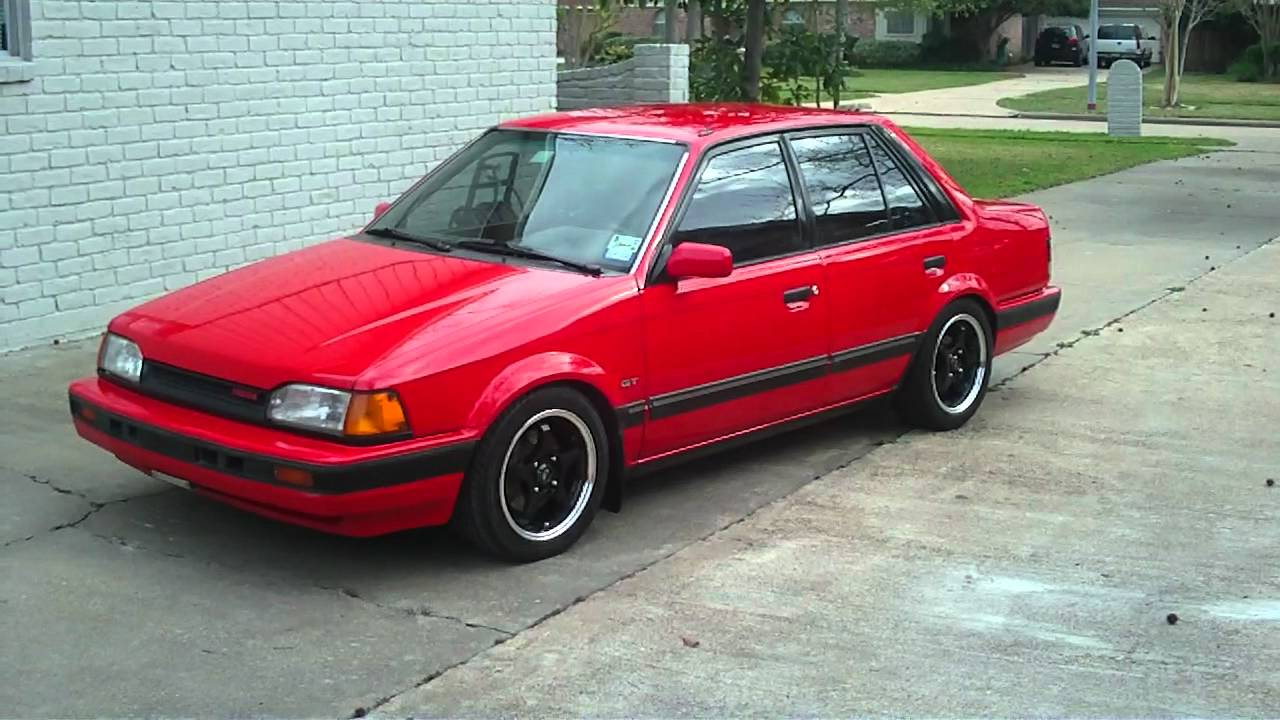 1988 mazda 323 gt bf b6t (in hd) - youtube