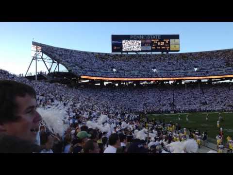 """Sweet Caroline"" - Loudest one ever - Penn State vs. Michigan 2013"