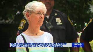 Mourners remember Newark police officer killed in the line of duty 100 years ago