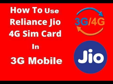 4g on 3gReliance Jio trick