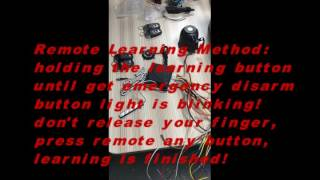 cardot 1100A smart car alarm learning method,central lock signal change,emergency disarm