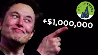 The Moment Elon Musk Donated $1,000,000 to TeamTrees - #Treelon