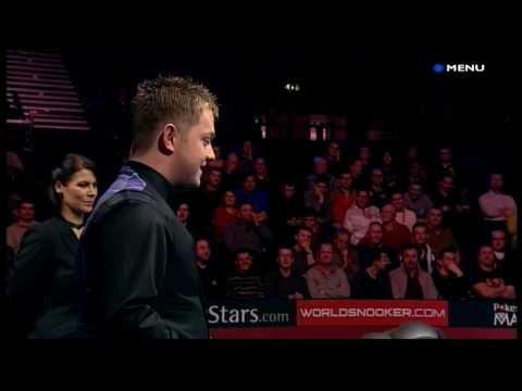 Snooker - Michaela Tabb's touching ball & Mark Allen's lovely little fist pump (15.1.10)