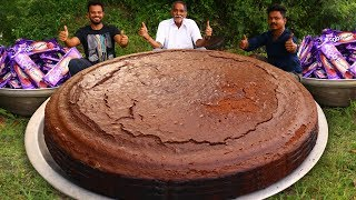 BIGGEST CHOCOLATE CAKE WITH BOURBON BISCUITS PREPARED BY OUR GRANDPA | CHOCOLATE COOKIES CAKE RECIPE
