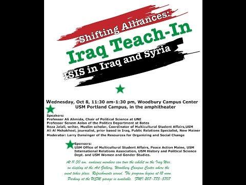Iraq Teach In-Shifting Alliances:ISIS in Iraq & Syria 588