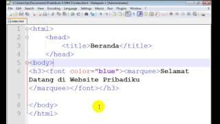 Cara membuat halaman web dengan program Notepad Plus Plus