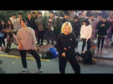 [일본소녀댄스팀]IOI ☆WHATTA MAN ☆COVER 홍대버스킹 20171020금 [Hongdae Kpop Street Dance]
