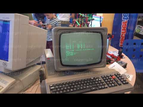 Working retro pc at Moscow Maker Faire