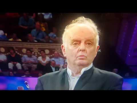 Daniel Barenboim speech at #bbcProms