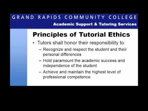 Tutoring Ethics: An Introduction to Ethical Practices in Tutoring