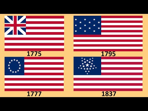 Flag Of USA : Historical Evolution - From 1775 To ... Future