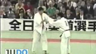 JUDO 1990 All Japan:  Koichiro Mitani (JPN) - Toshihiko Koga 古賀 稔彦 (JPN)