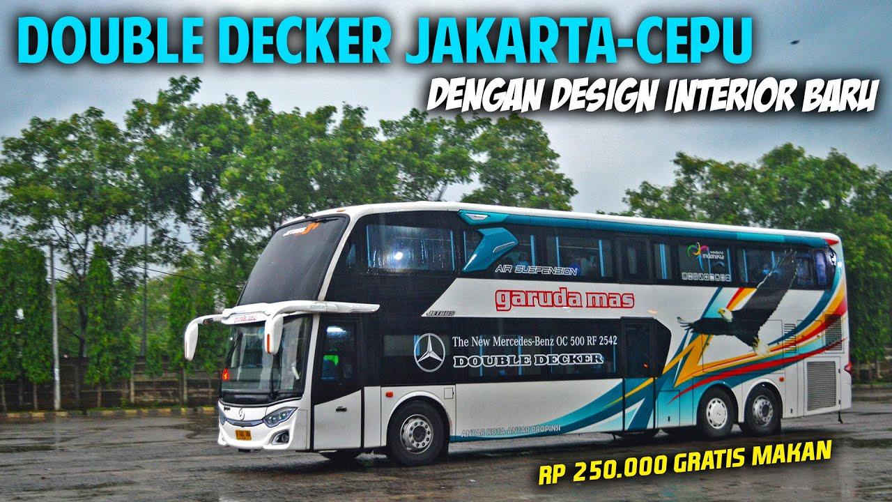 JAKARTA-CEPU NAIK BUS DOUBLE DECKER TERBARU GARUDA MAS DENGAN DESIGN INTERIOR PALING UNIK & BEDA