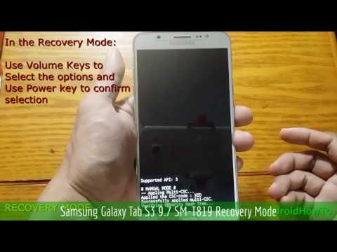 Samsung Galaxy Tab S3 9.7 SM-T819 Recovery Mode