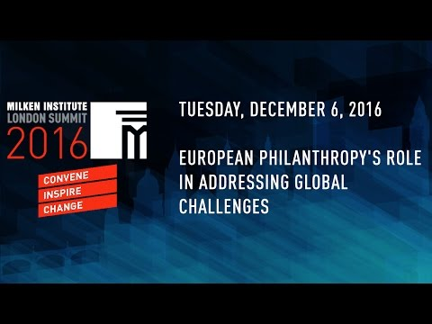 European Philanthropy's Role in Addressing Global Challenges