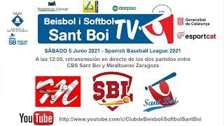 Spanish Baseball League / CBS Sant Boi - Miralbueno Zaragoza (1 de 2 / #2)