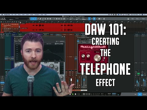 DAW 101: How to create the Telephone effect