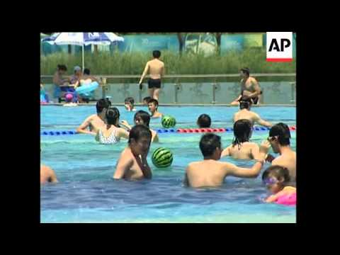 Sweltering heat hits the Chinese capital