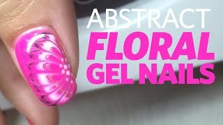Hot Pink Nails: Abstract Floral Gel Nail Tutorial With a Dotting Tool