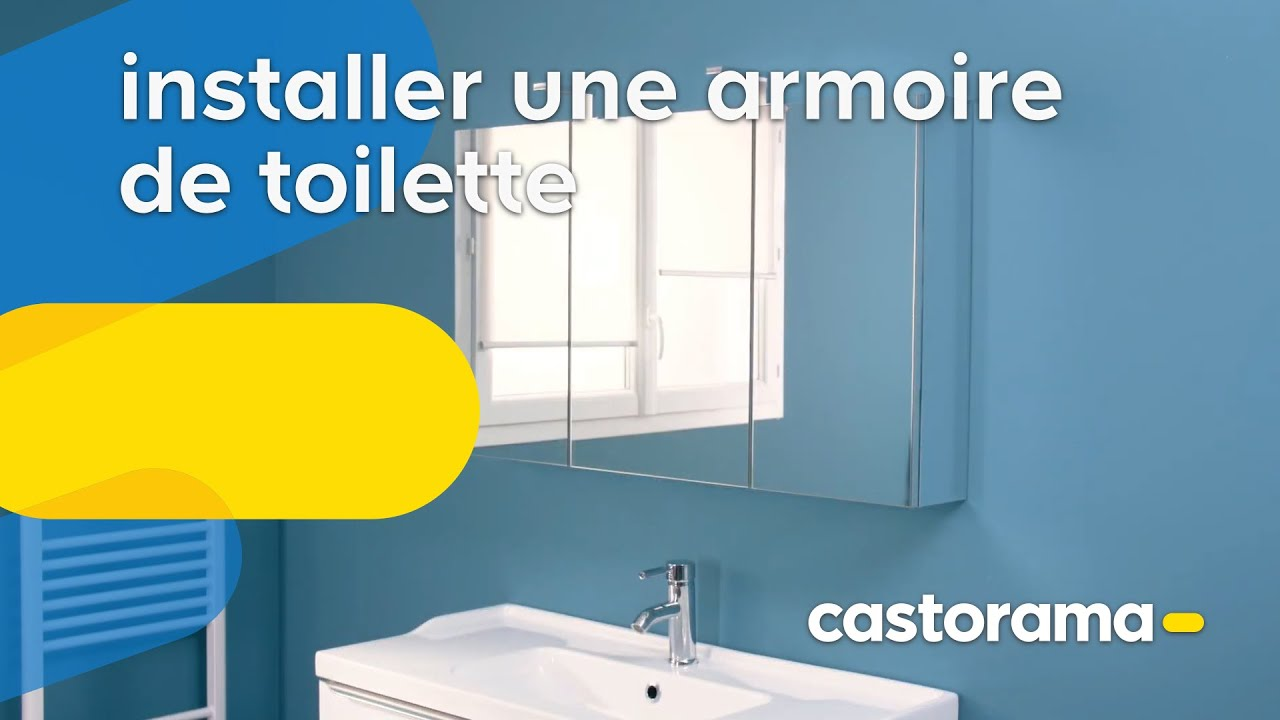 Comment Installer Une Armoire De Toilette Castorama Youtube