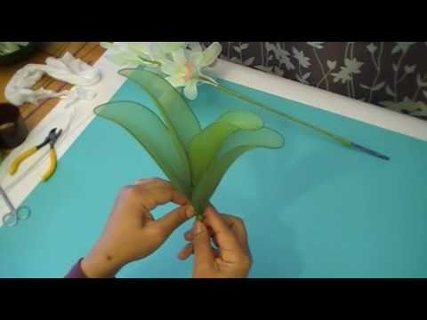 fabrication d 39 une orchid e cymbidium en collant nylon cymbidium orchid youtube. Black Bedroom Furniture Sets. Home Design Ideas