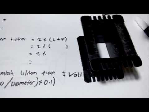 Rumus Menggulung Trafo Kotak (the formula rolls the transformer box)