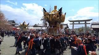 平成30年北条節句祭り 宵宮 西郷本社宮入