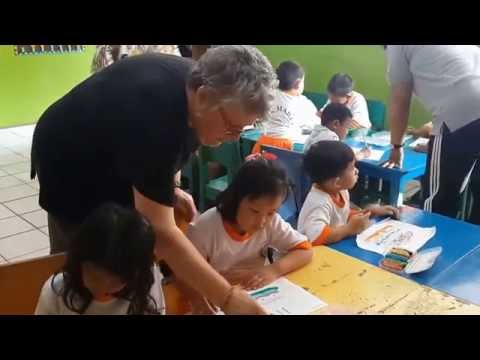From Australia to Kindergarten School Maria Depok with Pam & Glen