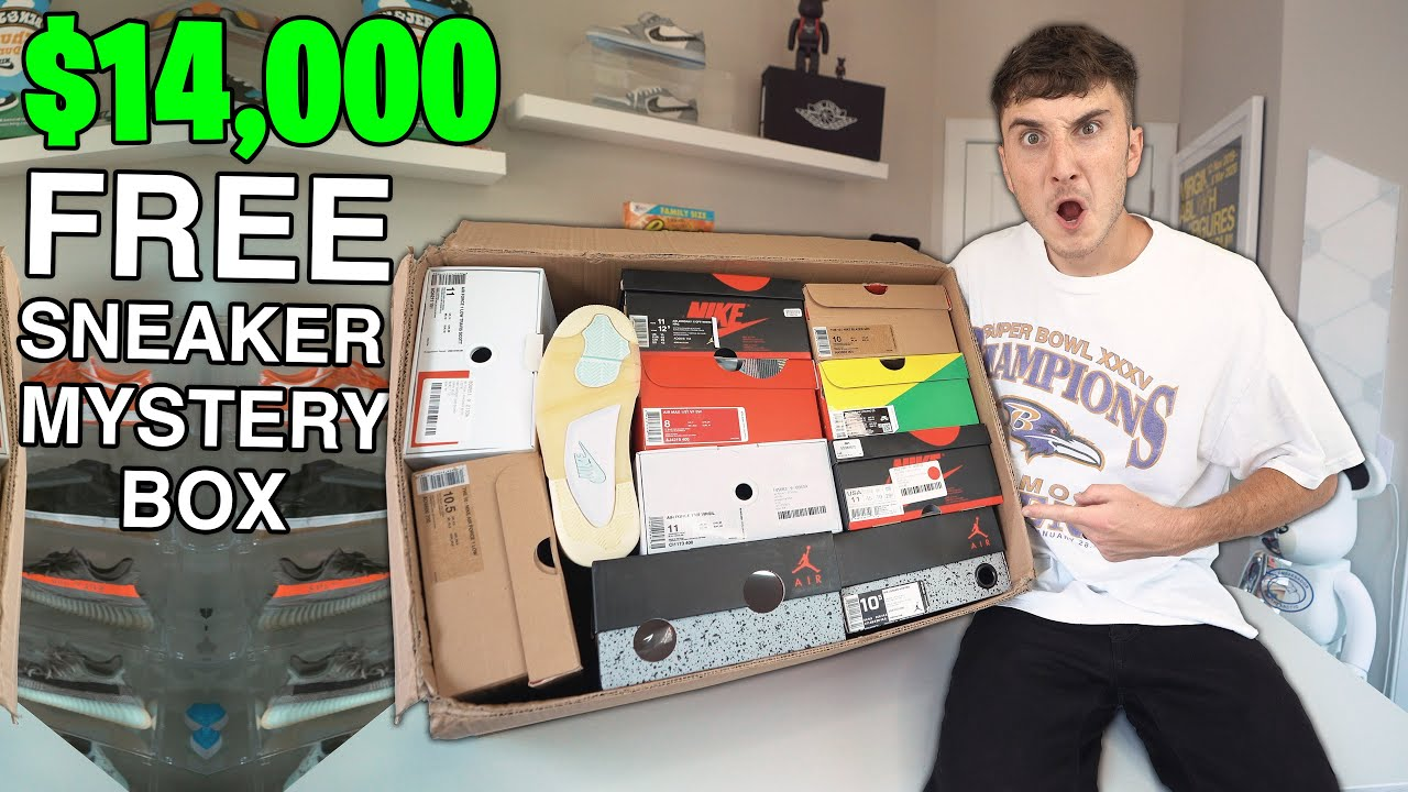 Unboxing A FREE $14,000 Sneaker Mystery Box... (INSANE)