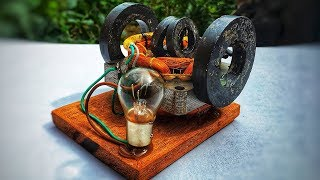 How to make free energy motor generator simple at home - Electricity science experiment project