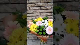 Букет с хризантемой и герберой