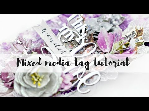 Prima Marketing Lavender mixed media tag tutorial thumbnail