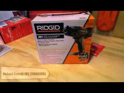 Ridgid Gen4x 18v 1 2 Inch Impact Wrench R86010b Review And Unboxing