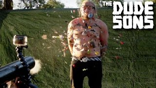 The LEGO CANNON CHALLENGE! - The Dudesons