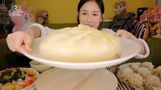 Làm bánh bao khổng lồ với Tiểu Hà...ăn siêu đã