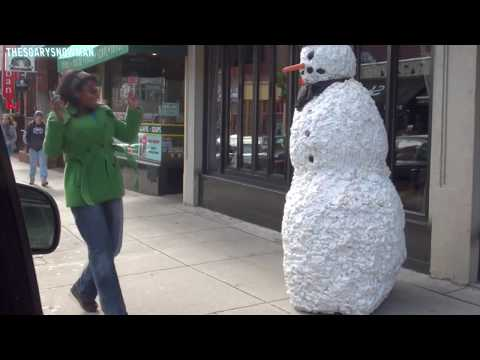 Funny - Scary Snowman Hidden Camera Practical Joke - Season 3 Episode 6