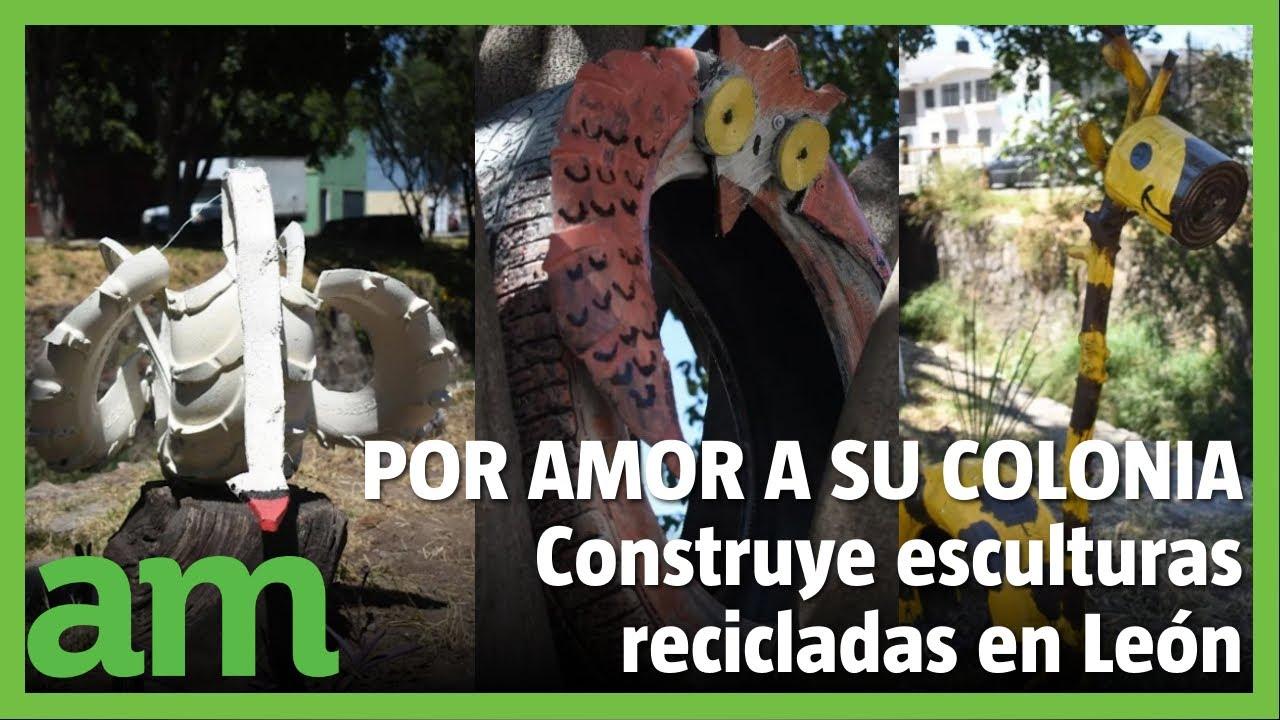 POR AMOR a su COLONIA, construyen esculturas recicladas en Valle de Señora
