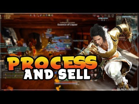 How to Process and Sell on Market for Easy Silver! | Black Desert Online