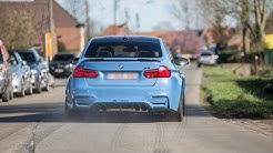 BMW M3 F80 with Decat Fi Exhaust System - LOUD Revs, Huge Burnout & Accelerations !
